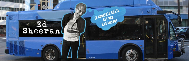 Начинается продажа билетов на латвийские фан-автобусы на концерт  Эда Ширана в Риге